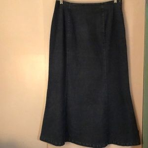 Talbot Jean Fit and Flare denim skirt